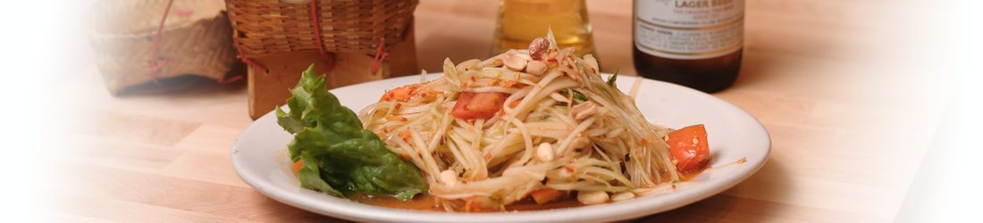 Som Tum - Papaya Salad with Beer